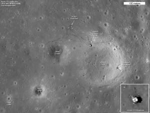 Мястото на кацане на Аполо 12 (apolo 12 area)