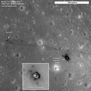 Мястото на кацане на Аполо 14 (apolo 14 area)