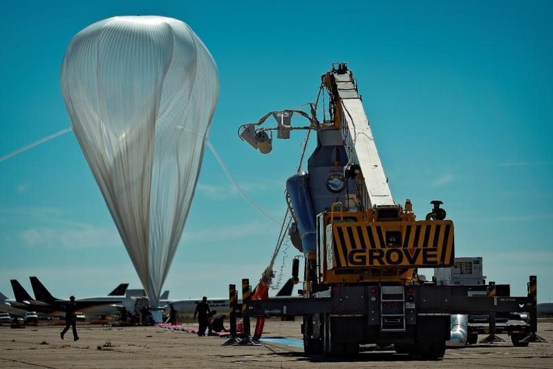 Най-големият балон, пускан досега.